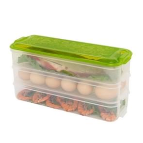 Plastic Multi-layer Food Storage Box Kitchen Refrigerator Preservation Container, Random Color Delivery