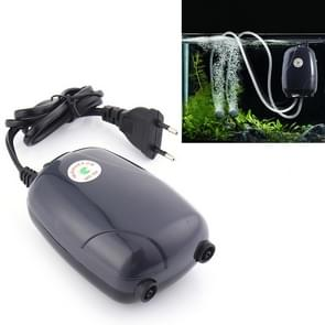 RS-390 220V 5W Double Outlets Adjustable Flow Silent Aquarium Air Pump Fish Tank Oxygen Air Pump