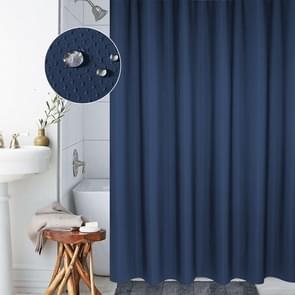 Verdikking waterdicht en meeldauw gordijn honingraat structuur Polyester doek douche gordijn badkamer gordijnen  grootte: 180 * 200cm (donkerblauw)