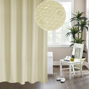 Verdikking waterdicht en meeldauw gordijn honingraat structuur Polyester doek douche gordijn badkamer Curtains Size:180*200cm(Beige)
