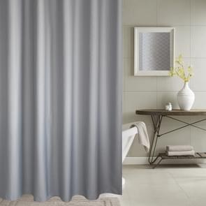 Verdikking waterdicht en meeldauw gordijn honingraat structuur Polyester doek douche gordijn badkamer Curtains Size:200*220cm(Grey)