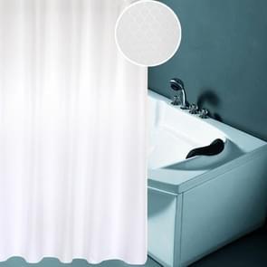 Verdikking waterdicht en meeldauw gordijn honingraat structuur Polyester doek douche gordijn badkamer Curtains Size:200*220cm(White)