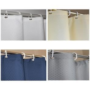 Verdikking waterdicht en meeldauw gordijn honingraat structuur Polyester doek douche gordijn badkamer Curtains Size:200*240cm(White)