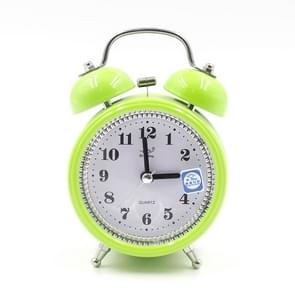 Fashion Mute Metal Alarm Clock with Night Light, Size: 12*8.5cm(Green)