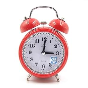 Fashion Mute Metal Alarm Clock with Night Light, Size: 12*8.5cm(Red)