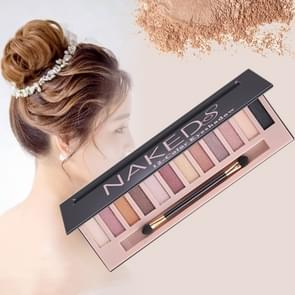 5673 Cosmetic 12 Colors Pearl Smoky Eye Shadow Makeup Palette with Brush Set