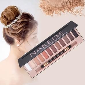 5673 cosmetische 12 kleuren matte aarde kleur naakte oog schaduw make-up palet met borstel set