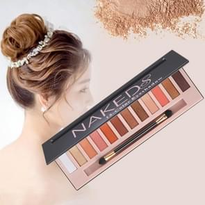 5673 Cosmetic 12 Colors Matte + Pearl Smoky Grapefruit Color Eye Shadow Makeup Palette with Brush Set