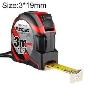 Aoben intrekbare liniaal meten Tape draagbare Pull liniaal Mini meetlint  lengte: 3m breedte: 19mm