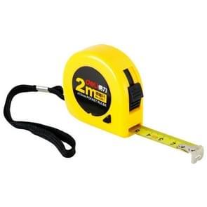 Deli intrekbare liniaal meten Tape draagbare trekken liniaal Mini meetlint  lengte: 2m