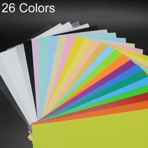 26 kleuren in 1 kleurrijke Scrub warmte Film DIY Heat Shrink krimpfolie