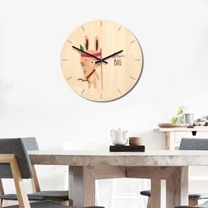Indian konijn patroon Home Office slaapkamer decoratie houten dempen Wandklok  grootte: 28cm