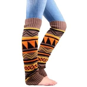 Winter Camouflage Boheemse verdikking wol stapel sokken Lady kniekousen thermische Boot Cover (Khaki)