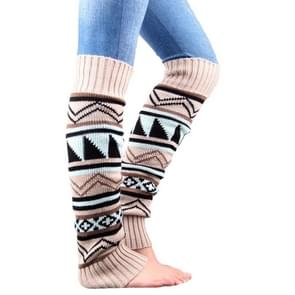 Winter Camouflage Bohemian Thickening Wool Pile Socks Lady Knee-high Thermal Boot Cover(Beige)