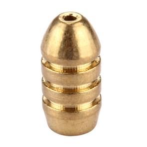 10g schroefdraad koper Bullet Hengelsport Sinker Hengelsport gewichten Soft Lure accessoire