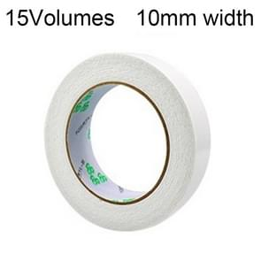 15 Volumes  2mm Thickness Strong White Sponge Double-sided Tape Foam Tape, Size: 5m x 10mm