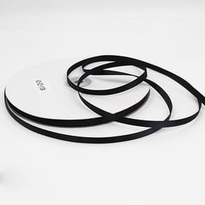 High Density Polyester Hand Woven Ribbon, Size: 91m x 0.6cm(Black)