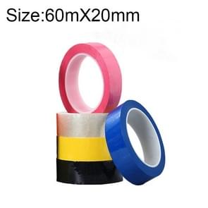 5 Volumes High-Temp Insulation Adhesive Mara Tape for Transformer Motor Capacitor Coil Wrap, Size: 60m x 20mm, Random Color Delivery