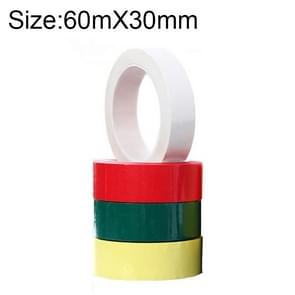 4 Volumes High-Temp Insulation Adhesive Mara Tape for Transformer Motor Capacitor Coil Wrap, Size: 60m x 30mm, Random Color Delivery