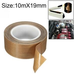 Teflon High Temperature Resistant Cloth Tape Sealing Machine Heat Insulation Tape, Size: 10m x 19mm