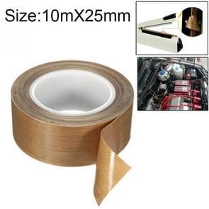 Teflon High Temperature Resistant Cloth Tape Sealing Machine Heat Insulation Tape, Size: 10m x 25mm