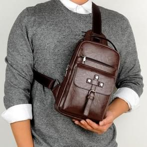 Universal Fashion Casual Outdoor Men Shoulder Messenger Bags Retro Men Waist Bag, Size: S (26cm x 17cm x 5.5cm)(Brown)