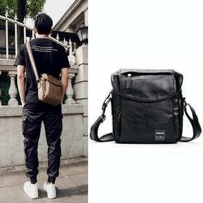 Universal Fashion Casual Outdoor Men Shoulder Messenger Bag, Size: 27cm x 24cm x 8cm (Black)