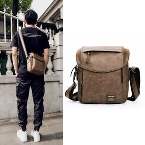 Universal Fashion Casual Outdoor Men Shoulder Messenger Bag, Size: 27cm x 24cm x 8cm (Khaki)