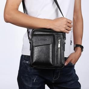 Universal Fashion Casual Men Shoulder Messenger Bag Handbag, Size: S (22cm x 18cm x 6cm)(Black)