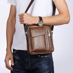 Universal Fashion Casual Men Shoulder Messenger Bag Handbag, Size: S (22cm x 18cm x 6cm)(Khaki)