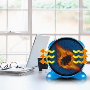 500W Mini draagbare Desktop Handy Air Heater Warm Fan Blower Heater Radiator Warmer voor Dormitory, Office, Home, AC 110V, USA stekker(blauw)