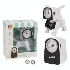 Mini Manual Child Deformation Alarm Clock Robot Toy (White)