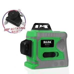 Hilda SPY-1 Laser Level 12 Lines 3D Level Self-Leveling 360 Horizontal Vertical Cross Green Laser Beam Line