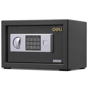 Deli Home Office Hotel Mini Electronic Security Lock Box Wall Cabinet Safety Box(Black)