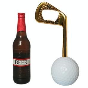 Golf Zinc Alloy Beer Bottle Opener (Gold)