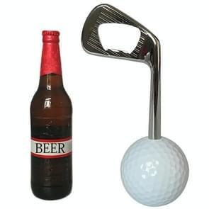 Golf Zinc Alloy Beer Bottle Opener (Silver)