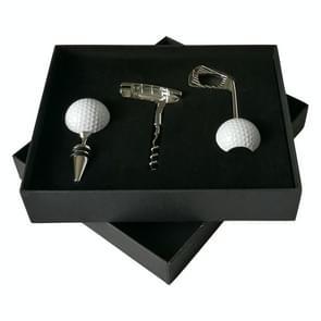 4 in 1 Golf Beer Bottle Opener + Red Wine Bottle Opener + Golf Red Wine Stopper + Box Set (Silver)