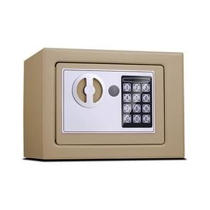 17E Home Mini Electronic Security Lock Box Wall Cabinet Safety Box without Coin-operated Function (Champagne Gold)