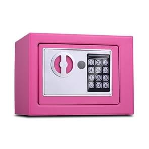 17E Home Mini Electronic Security Lock Box Wall Cabinet Safety Box without Coin-operated Function (Pink)