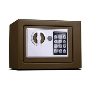 17E Home Mini Electronic Security Lock Box Wall Cabinet Safety Box without Coin-operated Function (Bronze)