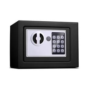 17E Home Mini Electronic Security Lock Box Wall Cabinet Safety Box without Coin-operated Function (Obsidian Black)