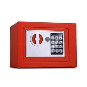 17E Home Mini Electronic Security Lock Box Wall Cabinet Safety Box without Coin-operated Function (Red)
