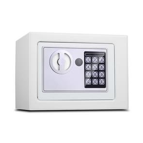 17E Home Mini Electronic Security Lock Box Wall Cabinet Safety Box without Coin-operated Function (White)