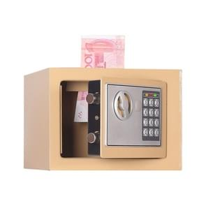 17E Home Mini Electronic Security Lock Box Wall Cabinet Safety Box with Coin-operated Function (Champagne Gold)