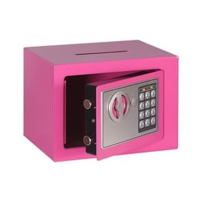 17E Home Mini Electronic Security Lock Wall Cabinet Safety Box met Coin-operated Function (Pink)
