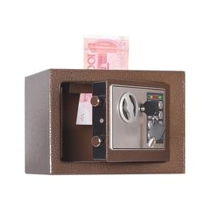 17E Home Mini Electronic Security Lock Box Wall Cabinet Safety Box with Coin-operated Function (Bronze)