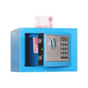 17E Home Mini Electronic Security Lock Box Wall Cabinet Safety Box with Coin-operated Function (Blue)