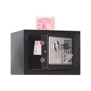 17E Home Mini Electronic Security Lock Box Wall Cabinet Safety Box with Coin-operated Function (Obsidian Black)