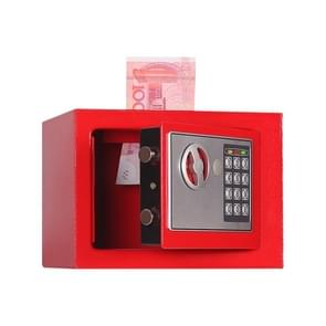 17E Home Mini Electronic Security Lock Box Wall Cabinet Safety Box with Coin-operated Function (Red)