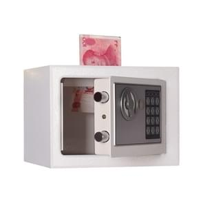 17E Home Mini Electronic Security Lock Box Wall Cabinet Safety Box with Coin-operated Function (White)